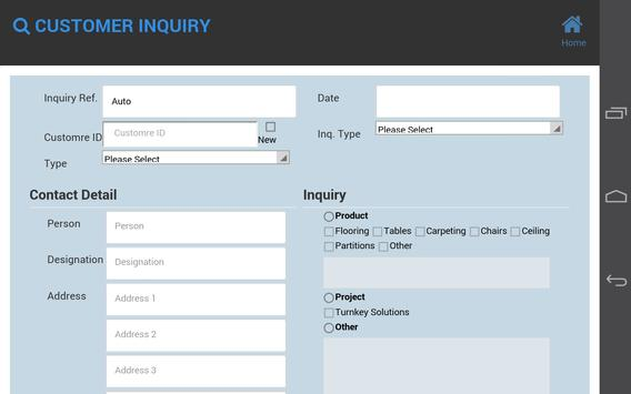 Customer Inquiry apk screenshot