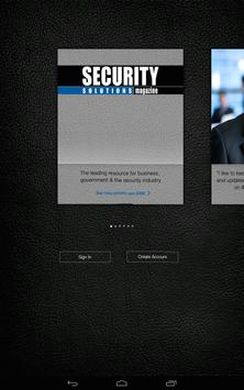 Security Solutions Magazine poster