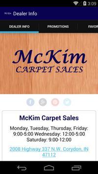 McKim Carpet Sales poster