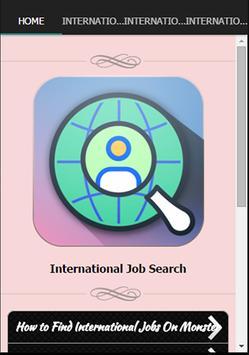 International Job Search poster