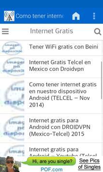 A guide for free internet apk screenshot