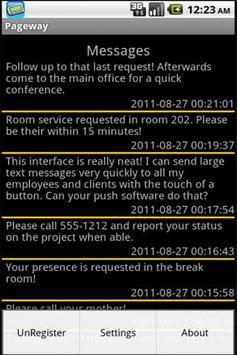 PagewaySMS apk screenshot