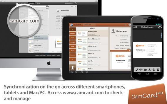 CamCard HD Free-BizCard Reader apk screenshot