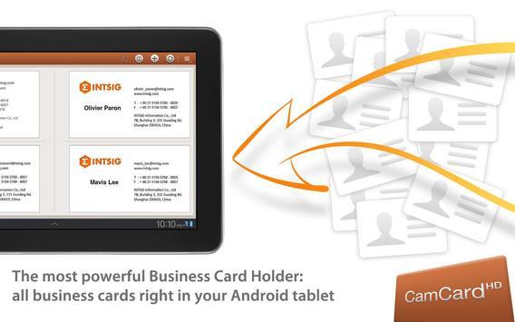 CamCard HD Free-BizCard Reader poster