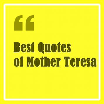 Best Quotes of Mother Teresa poster