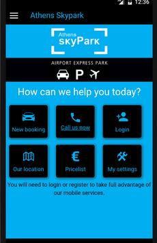 Athens Skypark airport parking poster