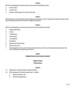 UU Tentang BPJS Indonesia apk screenshot