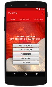 UU Tentang BPJS Indonesia poster