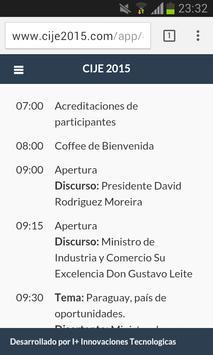 CIJE 2015 - AJE Paraguay poster