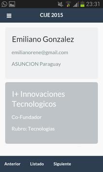 CIJE 2015 - AJE Paraguay apk screenshot