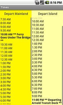 Star Line 2011 Ferry Schedule apk screenshot