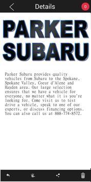Parker Subaru apk screenshot