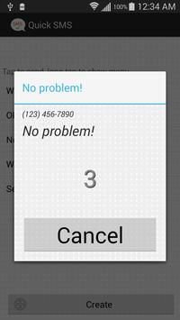 One Tap SMS apk screenshot