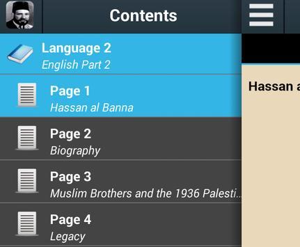 Biography of Hassan al-Banna poster