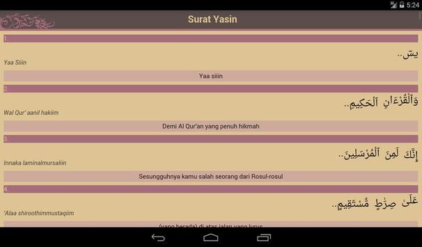 Surat Yasin apk screenshot