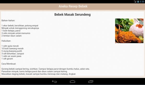 Resep Bebek apk screenshot