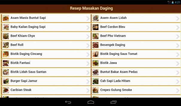 Resep Daging apk screenshot