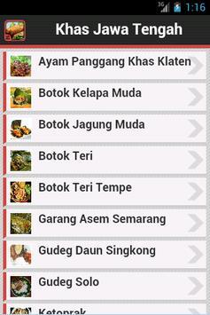 Resep Jawa Tengah poster
