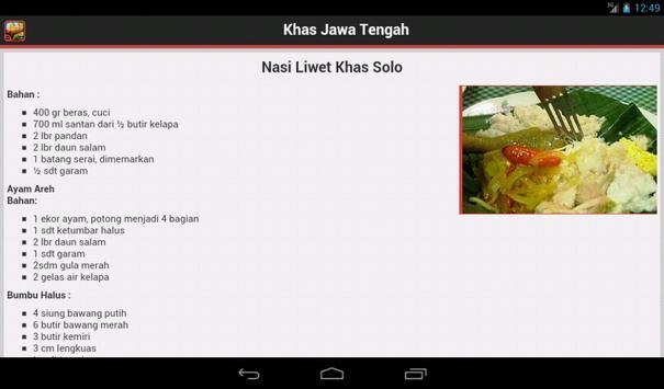 Resep Jawa Tengah apk screenshot