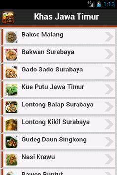 Resep Jawa Timur poster