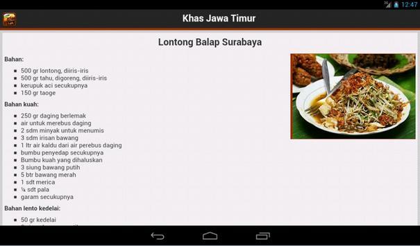 Resep Jawa Timur apk screenshot