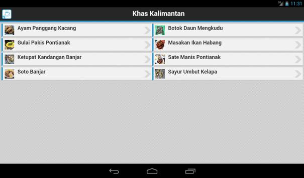 Resep Kalimantan apk screenshot
