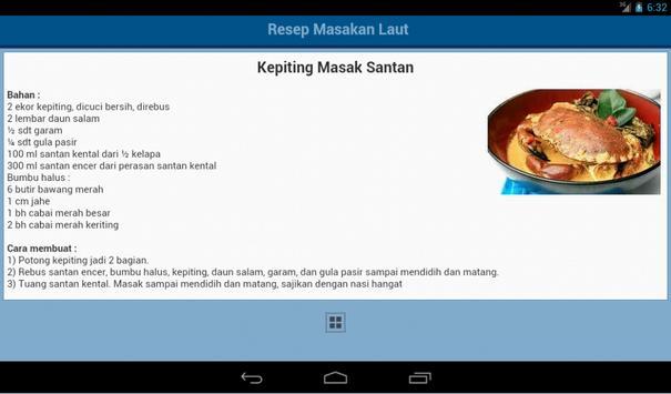 Resep Ikan dan Seafood apk screenshot
