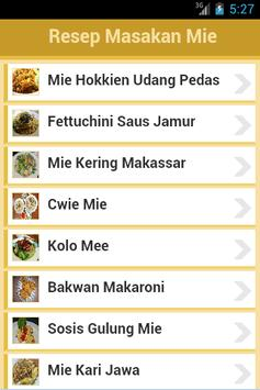 Resep Mie poster