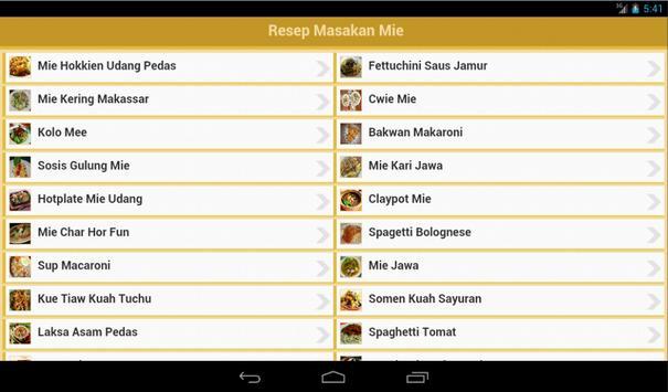 Resep Mie apk screenshot