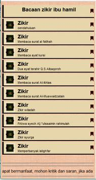 Zikir & Doa Ibu Hamil apk screenshot