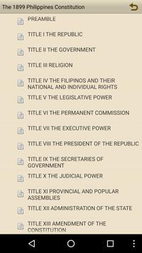 1899 Philippines Constitution apk screenshot