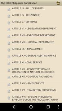 1935 Philippines Constitution apk screenshot
