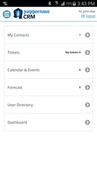 Juggernaut CRM apk screenshot