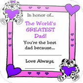 Fathers Day Heart icon