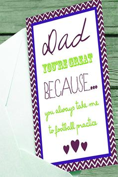 Fathers Day Heart poster