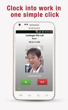 Justlogin Faceclock apk screenshot