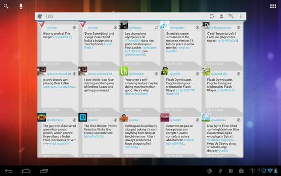 Falcon Widget (for Twitter) apk screenshot