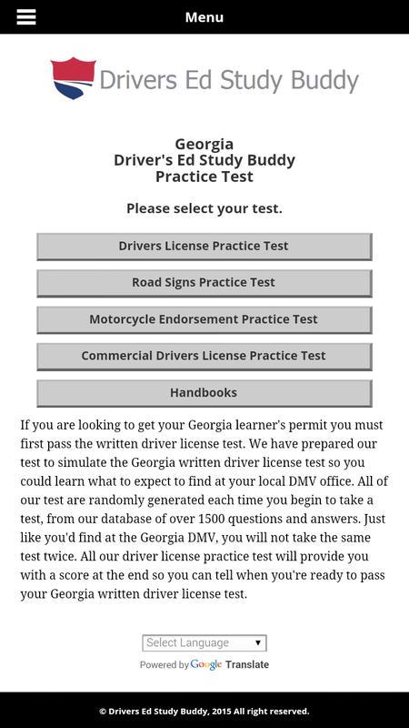 georgia new drivers license test