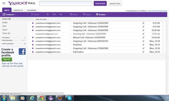 Call Mailer Trial apk screenshot