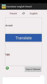 Translator English French apk screenshot