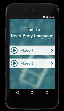 Tips To Read Body Language apk screenshot