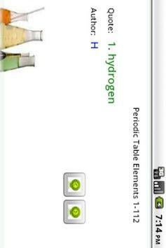Periodic Table Elements 1-112 apk screenshot