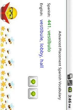 AP Spanish Vocabulary apk screenshot