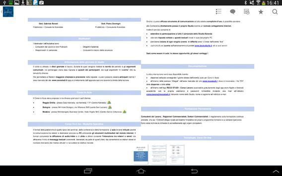 Reco Studi - Corso Lavoro apk screenshot