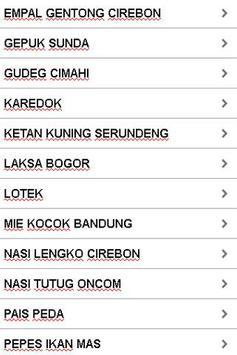 Aneka Resep Khas Jawa Barat apk screenshot