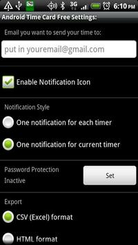 Time Card for Android Free apk screenshot