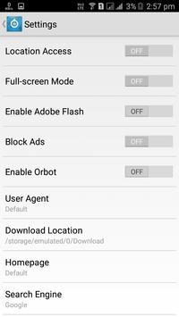 4G Browser apk screenshot