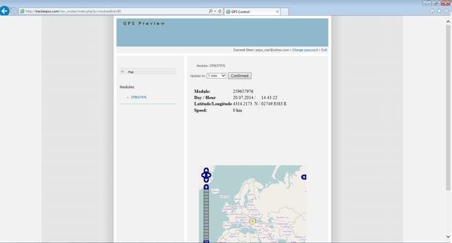 GPS WEB tracker apk screenshot