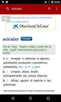 Diccionario castellano poster