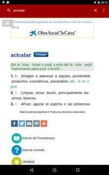 Diccionario castellano apk screenshot